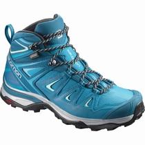 fccc165f50c5 Dámske Turistické Topánky - Salomon X ULTRA 3 MID GTX® W - Tyrkysové